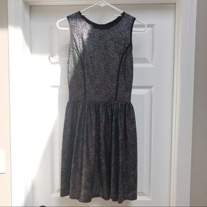 Black and silver glitter dress